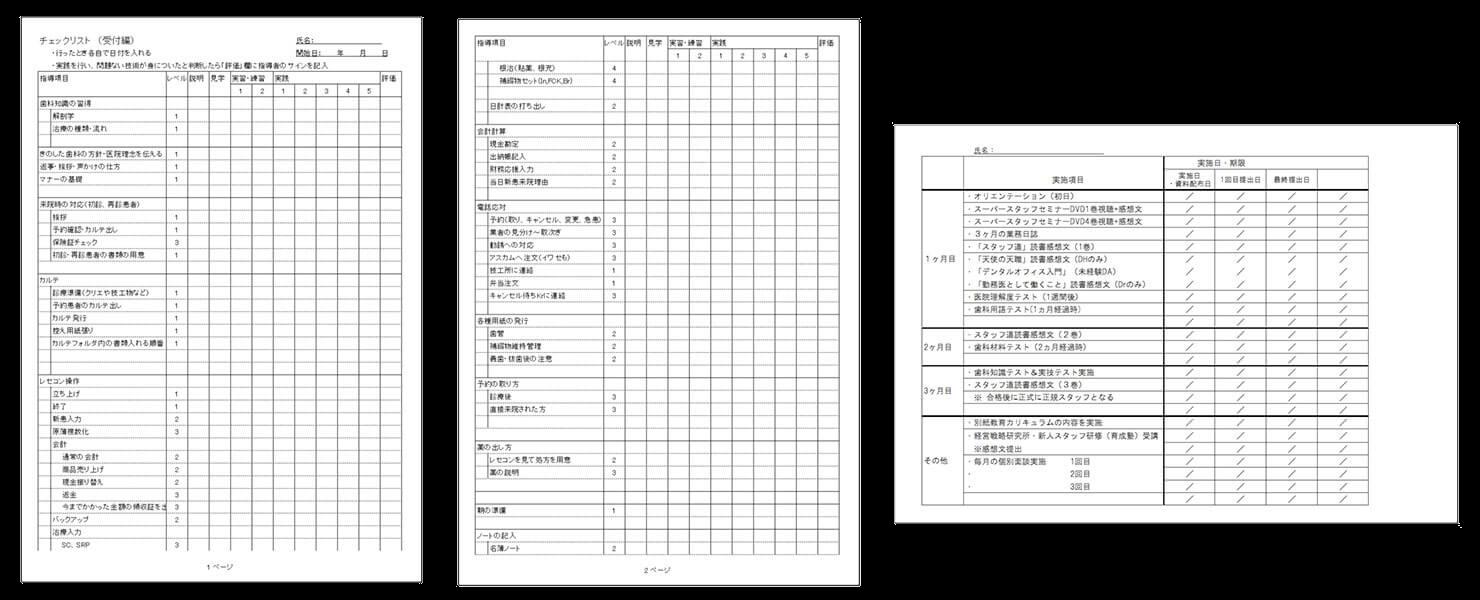 研修カリキュラム・実習